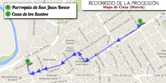 Mapa Traslado San Pedro