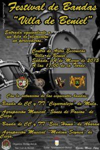 Cartel Festival de Bandas Beniel 2015